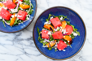 Celebrate an Early Summer with Grilled Apricot, Watermelon, and Arugula CBD Salad