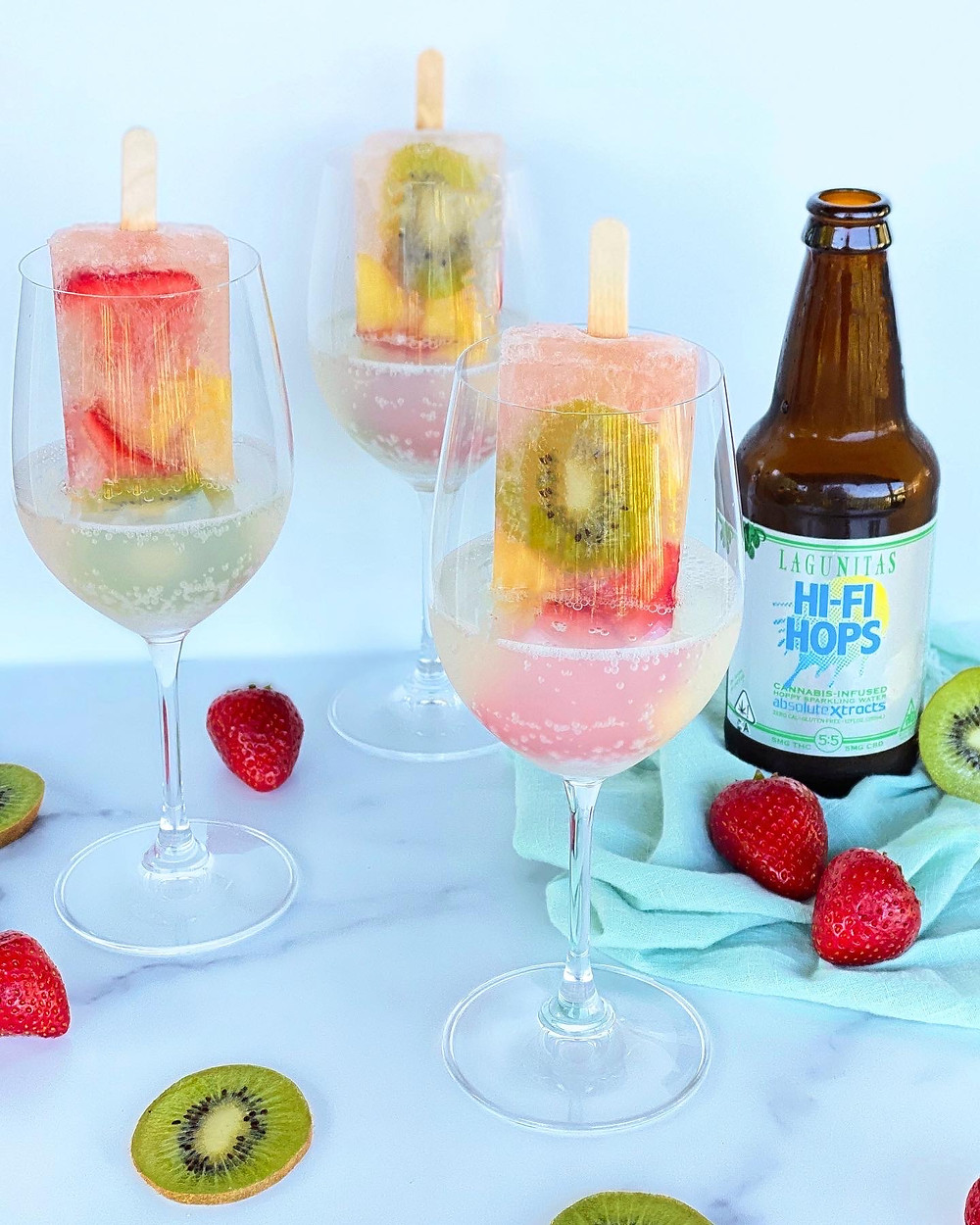 The Herb Somm's Hi-Fi Hops Summer Popsicles
