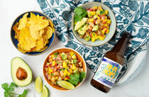 Kick Your Game Day Snacks Into High Gear With Tropical Shrimp Ceviche and Hi-Fi Hops