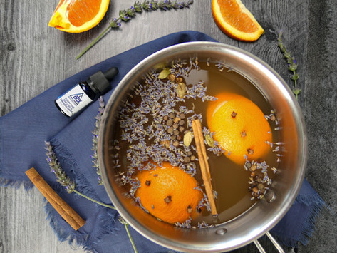 Lavender Mulled Canna-Cider With Autumn Spices