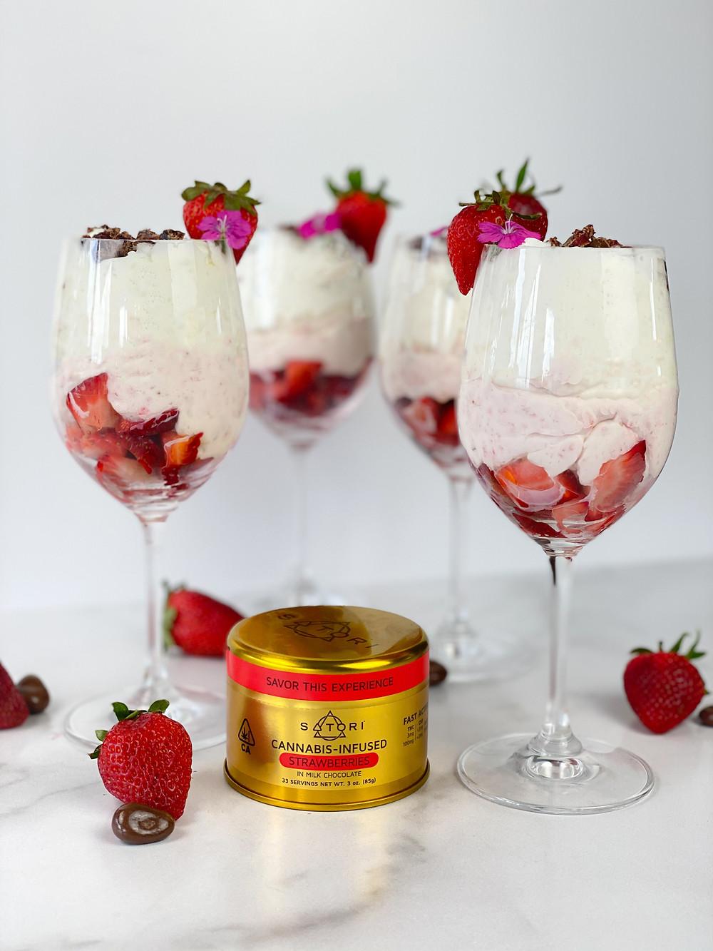 Strawberry Chocolate Satori Cream Fool