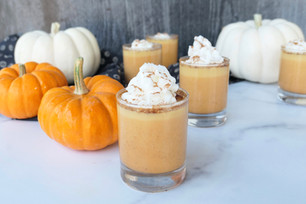 Pumpkin Pie CBD Pudding Shots
