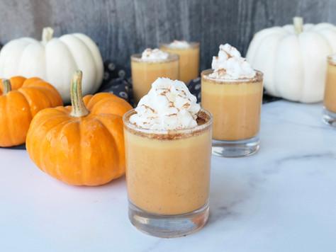 Pumpkin Pie CBD Pudding Shots