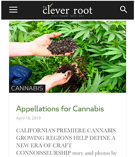 Clever Root - Appellations for Cannabis.