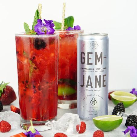 Simply Seltzer Mixed Berry Cannabis Mojito