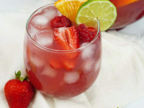 Nonalcoholic End-of-Summer Sangria