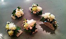 Bridal flowers, wrist corsages, centrepieces