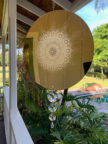 Golden Mirror Sun Catcher - True Heart's Core Key Code
