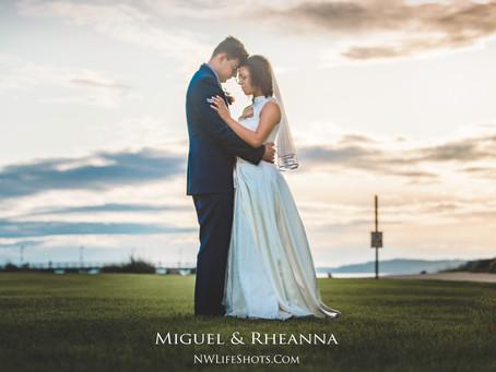 Miguel & Rheanna's wedding portraits in Des Moines Park
