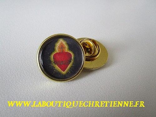 PIN'S EPINGLETTE SACRE COEUR DE JESUS - FINITIONOR OU ARGENT