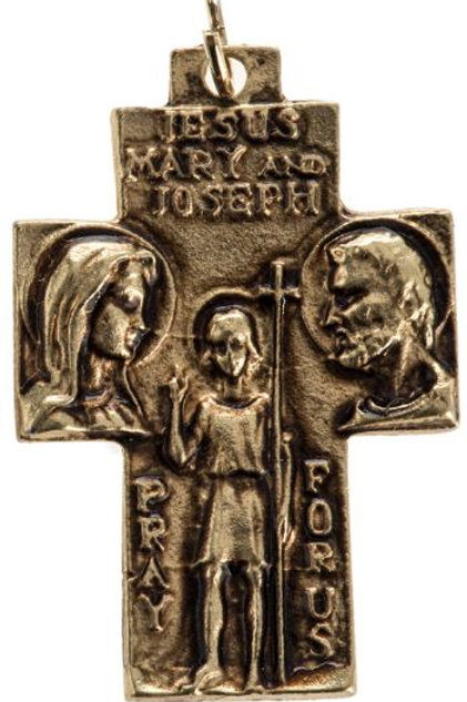 Médaille Sainte Famille plaqué or