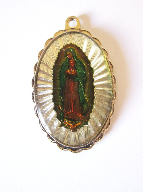 PENDENTIF VIERGE GUADALUPE LUMINEUX