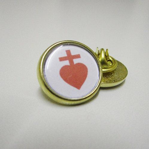 PIN'S EPINGLETTE SACRE COEUR DE JESUS - CHOUANS - FINITION OR OU ARGENT