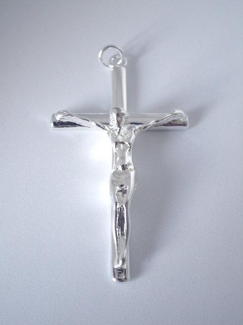 PENDENTIF CROIX DE JESUS CHRIST ARGENT