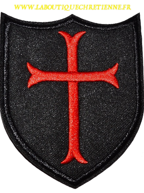 PATCH ECUSSON CROIX TEMPLIER TEMPLAR CROSS 10 X 8 CM
