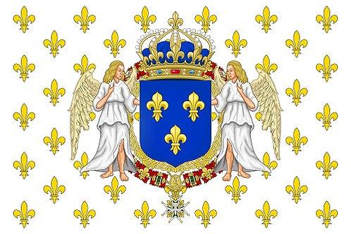 DRAPEAU ROYAUME DE FRANCE FLEUR DE LYS