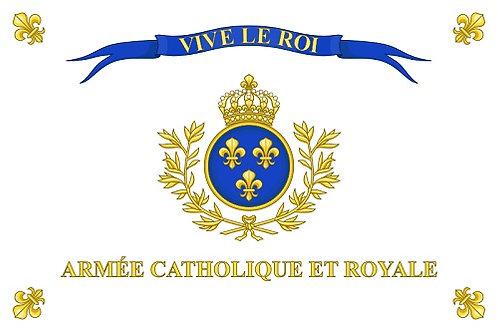 DRAPEAU ARMEE CATHOLIQUE ET ROYALE VIVE LE ROI 60 X 90 CM