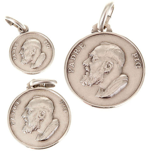 MEDAILLE PADRE PIO ARGENT 925