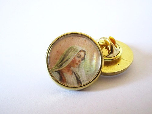 PIN'S EPINGLETTE VIERGE MARIE - FINITION OR OU ARGENT