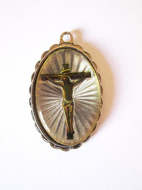 PENDENTIF JESUS SUR LA CROIX LUMINEUX