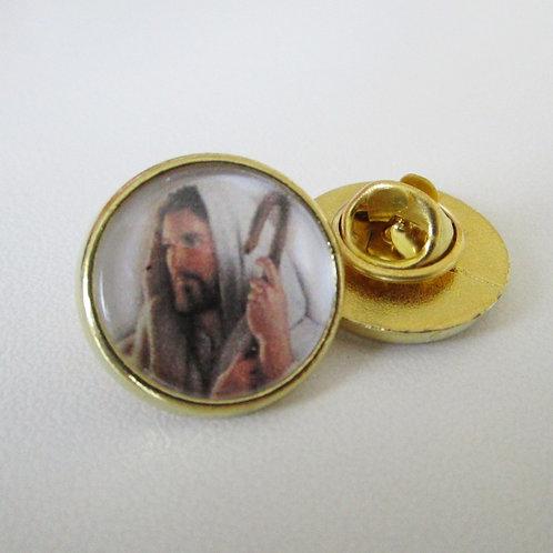 PIN'S EPINGLETTE JESUS CHRIST - EGLISE CATHOLIQUE - FINITION OR OU ARGENT