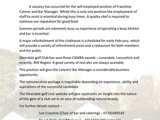 Silverdale Golf Club are recruiting