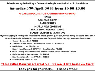 Coffee Morning - Appeal for Goods