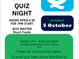 Quiz Night Saturday 5 October