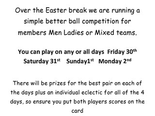 Easter Competitions