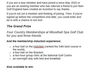 Free entry into an exciting competition