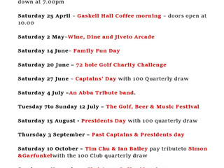 Dates for your 2020 Diary