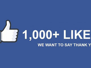 1000 Facebook Likes!