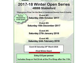 Final Winter Open now 24 March