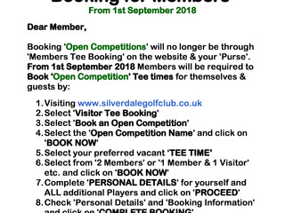 New way for Members to book Opens