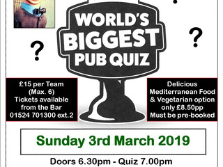 Pub Quiz Sunday 3 March