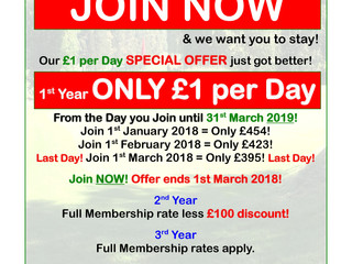 New Member Offer - Only £1 per Day!