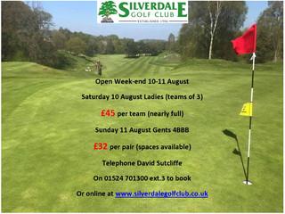Opens Weekend 10-11 August
