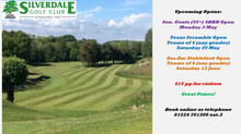 Seniors Open (55+) Monday 3 May