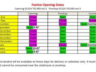 Festive Period Opening