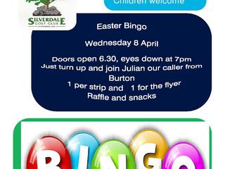 Easter Bingo Wednesday 8 April