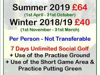 Weekly Green Fee Pass Introduced