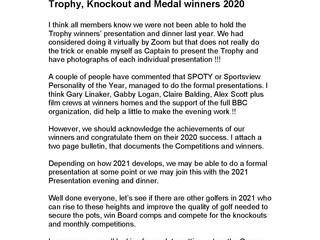 Gents Trophy Winners 2020