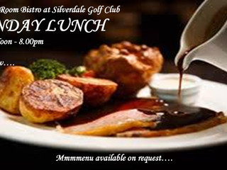 Sunday Lunches can be served in the Clubhouse or the Oak Room Bistro
