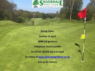 Spring Open Sunday 14 April