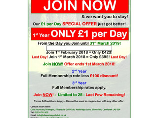 £1 per day New Member Offer