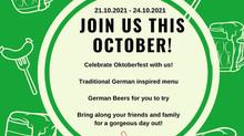 Oktoberfest starts on Thursday 21st October