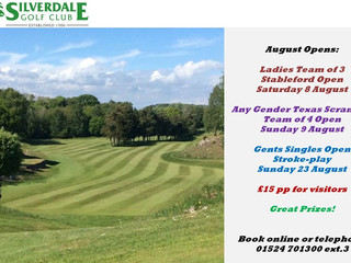 Book now for our August Opens