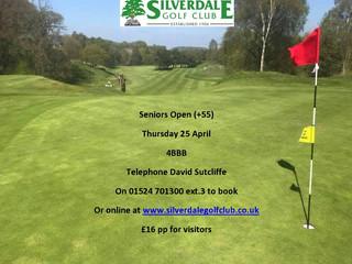 Senior Open Thursday 25 April