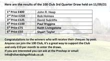 100 Club 3rd Quarter Draw