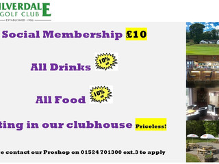 Social Membership now only £10